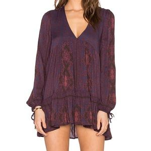 Free People Down By The Bay Dusk Combo Tunic Top